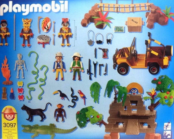 Playmobil 3097 - Adventure - Jungle* - Back