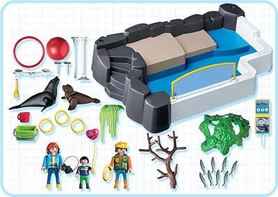 Playmobil set 3135s3 superset zoo seal pool klickypedia for Piscine playmobil