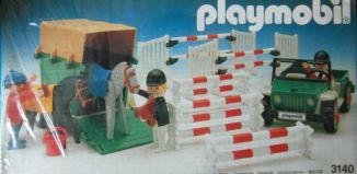 Playmobil - 3140-ant - Jeep & van à chevaux