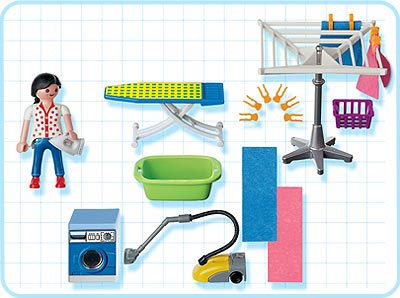 Playmobil 3206s2 - Laundry Room - Back
