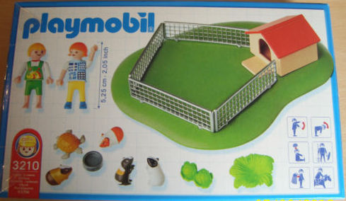 Playmobil 3210s3 - Children with Guinea Pigs - Back