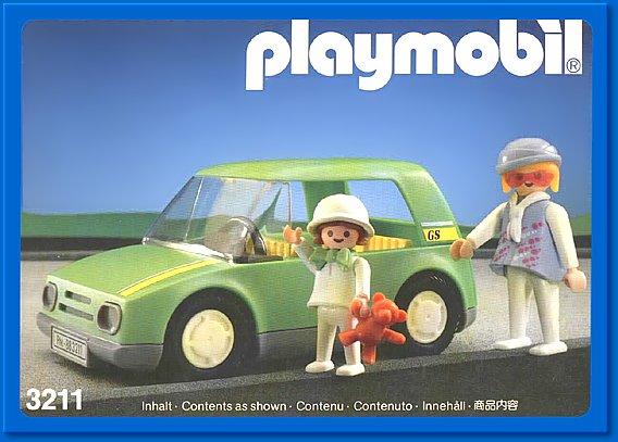 Playmobil 3211s2 - Light Green City Car - Box