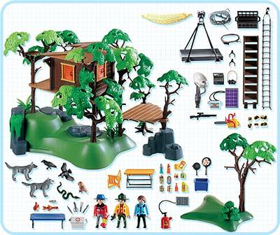 Playmobil 3217s2 - Expedition Lodge - Back
