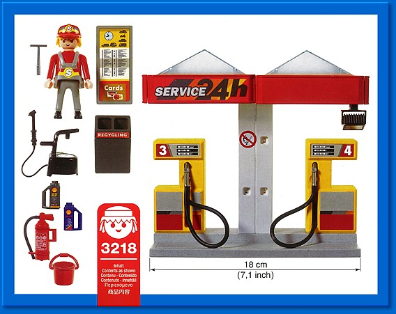 Playmobil 3218s2 - Gas Station - Back