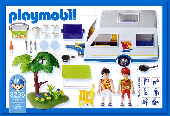 Playmobil 3236s2 - Family Vacation Camper - Back