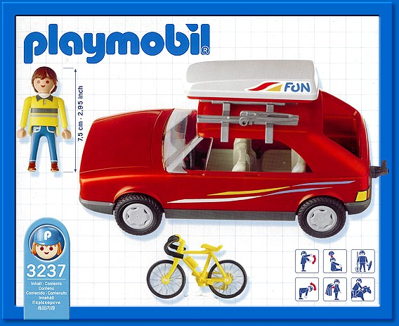 Playmobil 3237s2 - Red Family Car - Back