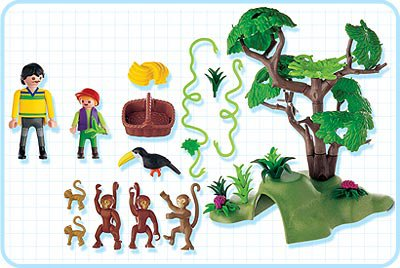 Playmobil 3238s2 - Monkey Troop - Back