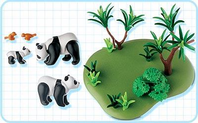 Playmobil 3241s2 - Panda Family - Back