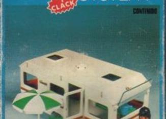 Playmobil - 3249v1-fam - Caravan / orange awning