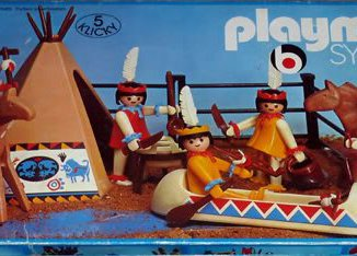 Playmobil - 3250v2 - Indians with Teepee and Canoe