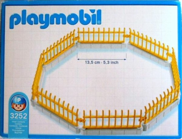 Playmobil 3252s2 - Zoo Fencing - Back