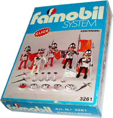 Playmobil 3261-fam - King and 4 soldiers - Box