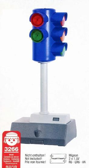 Playmobil 3266s2 - Traffic Light  - Battery Operated - Back