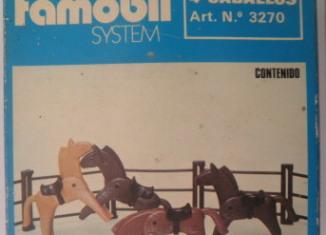 Playmobil - 3270v2-fam - 4 Horses
