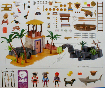 Playmobil 3285-usa - pirate lagoon - Back