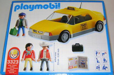 Playmobil 3323-usa - Airport Taxi - Back