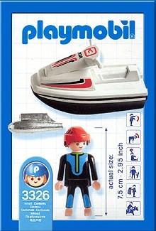 Playmobil 3326-usa - Jet Ski Racer - Back