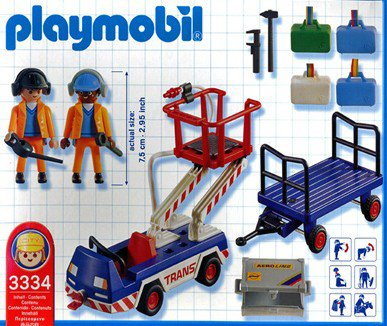 Playmobil 3334-usa - Ground Crew - Back