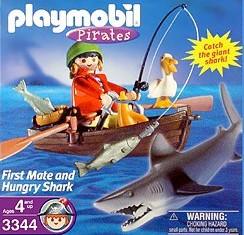 Playmobil - 3344-usa - first mate and hungry shark