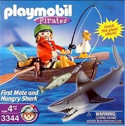 Playmobil 3344-usa - first mate and hungry shark - Box