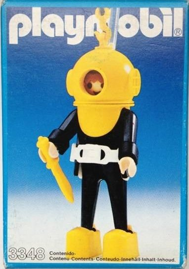 Playmobil 3348v1 - Hard-Hat Diver (Yellow/Black) - Box