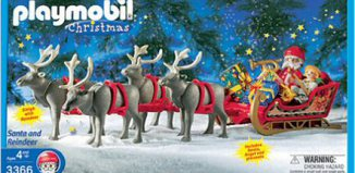 Playmobil - 3366-usa - Santa's Magic Sleigh