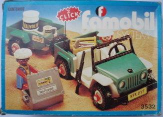 Playmobil - 3532-fam - Green jeep in the desert