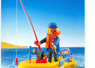 Playmobil - 3574v5 - Fisherman in boat