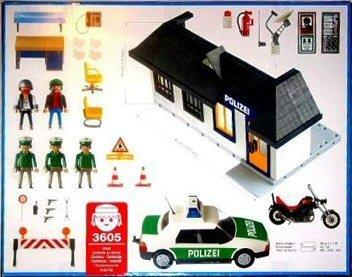 Playmobil 3605-ger - Adventure polizei - Back
