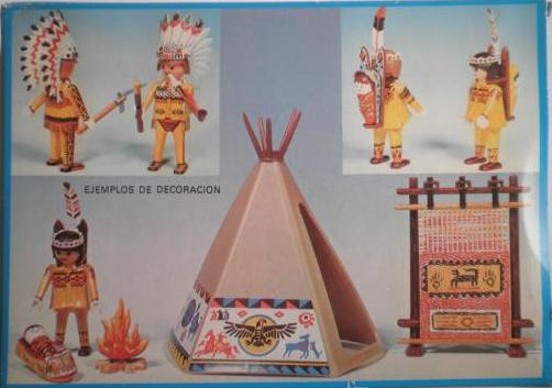 Playmobil 3621-fam - Indians Tipy - Back