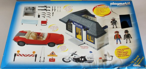 Playmobil 3623-usa - Adventure - Police 2 - Back