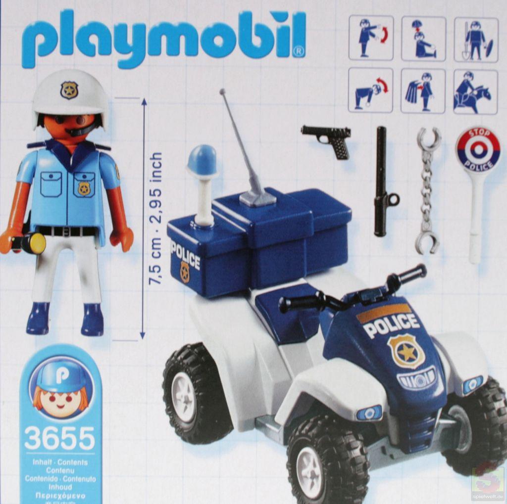 Playmobil 3655s2 - Polizist mit Quad - Zurück