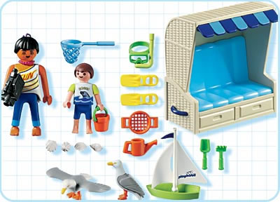Playmobil 3660s2 - Beach Chair - Back