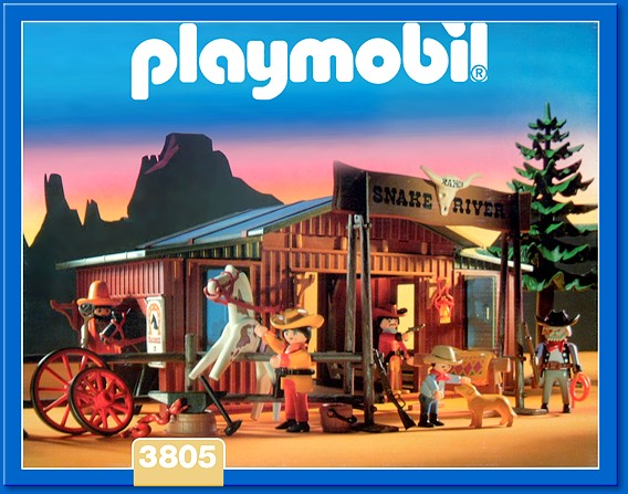 Playmobil 3805 - Snake River Ranch - Box
