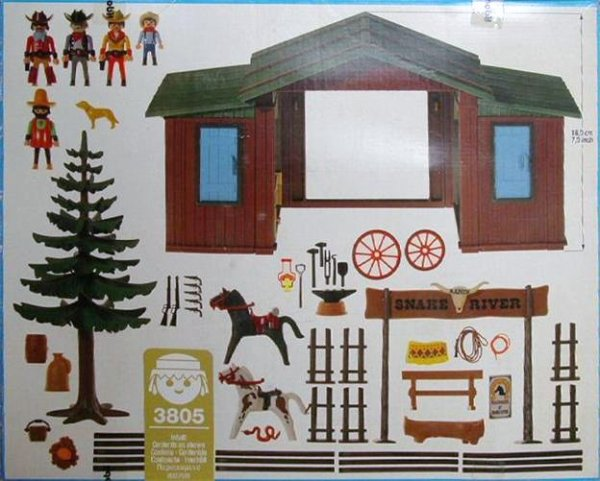 Playmobil 3805 - Snake River Ranch - Back