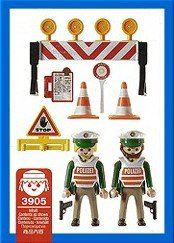 Playmobil 3905-ger - Police Checkpoint - Back