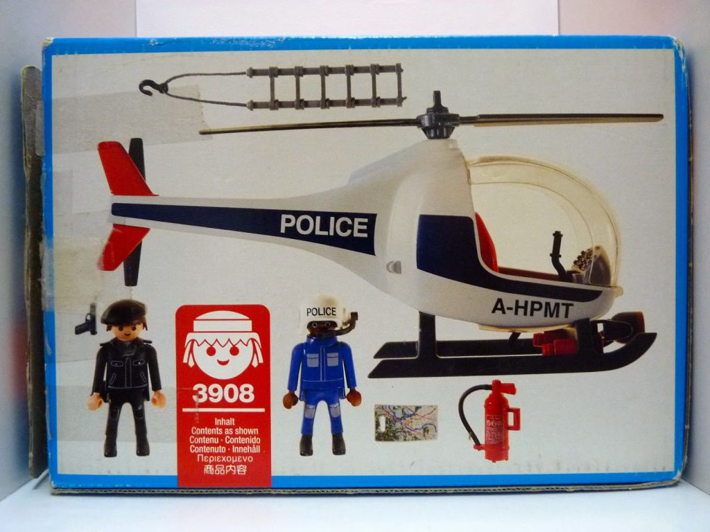 Playmobil 3908 - Police Helicopter - Back