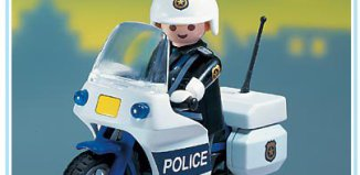 Playmobil - 3915-usa - Polizist mit Motorrad