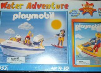 Playmobil - 3952-usa - Speedboat with waterskier & jetski
