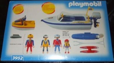 Playmobil 3952-usa - Speedboat with waterskier & jetski - Back