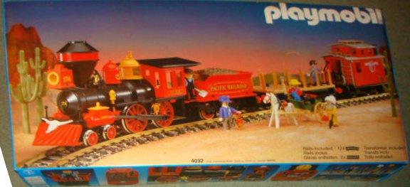 Playmobil set 4032 ukp large western train set - Train playmobil ...