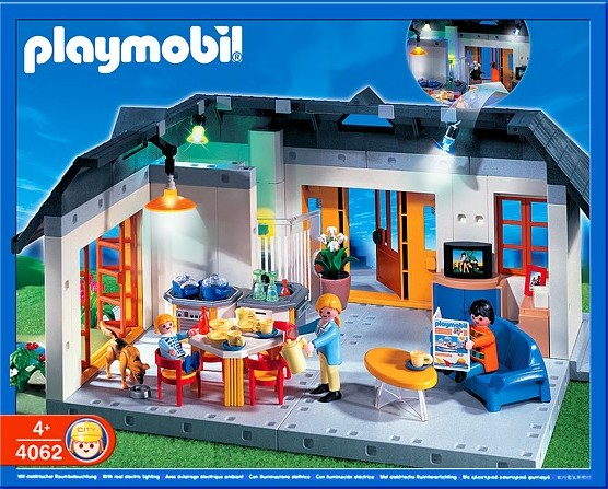 Playmobil set 4062 ger apartment with interior lights klickypedia for Maison moderne playmobil