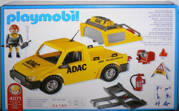 Playmobil 4071 - ADAC Vehicle - Back
