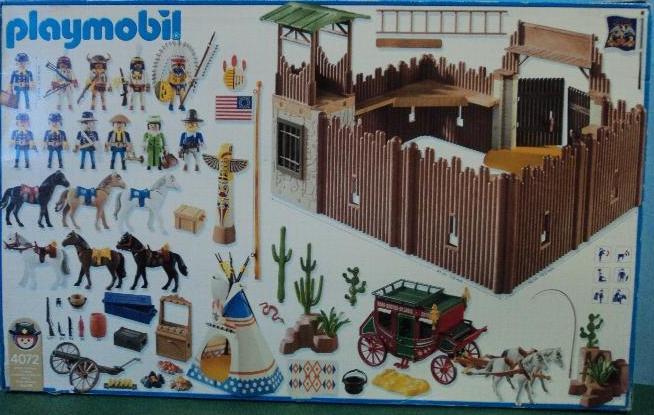 Playmobil 4072 - Fort Reno - Back