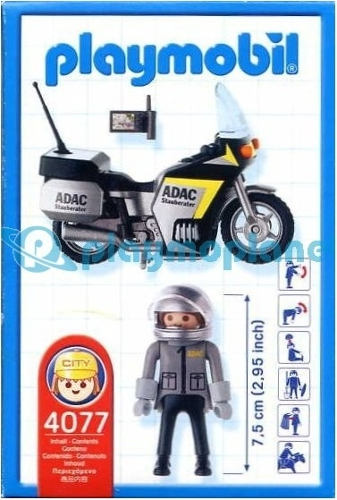 Playmobil 4077 - ADAC Motorcycle - Back