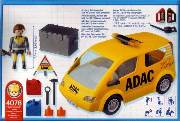 Playmobil 4078 - ADAC Watchvan - Back
