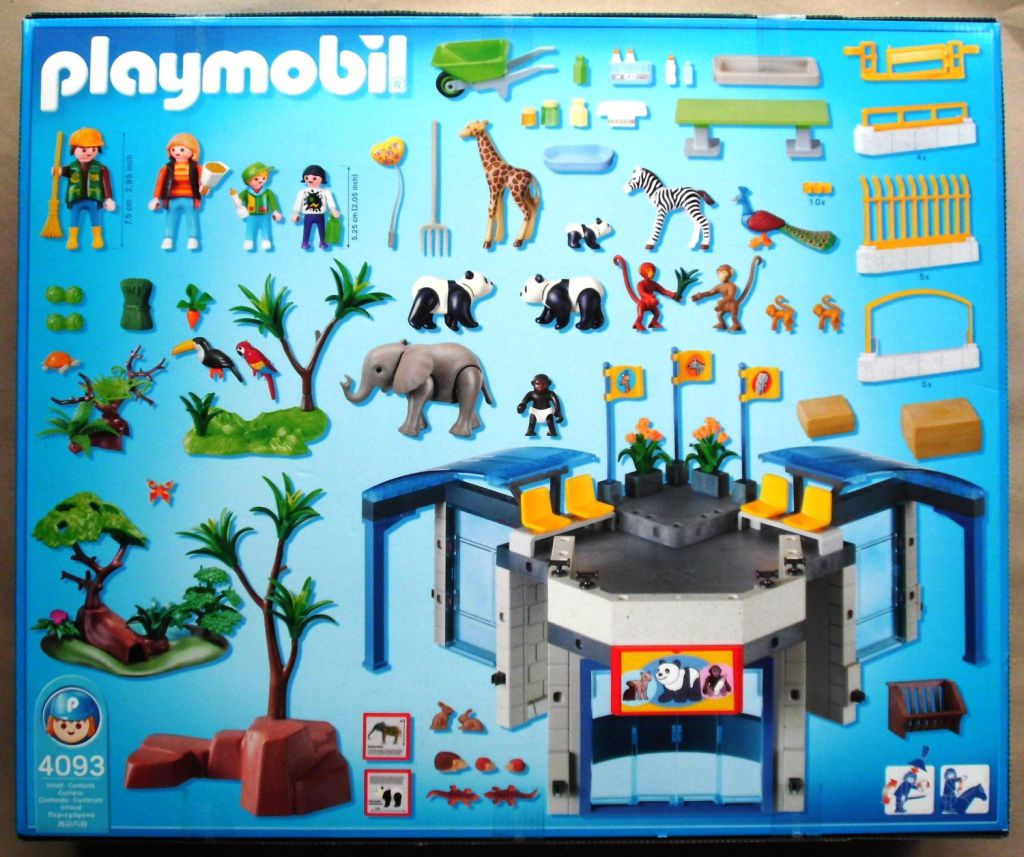 Playmobil 4093 - Baby Animal Zoo - Back