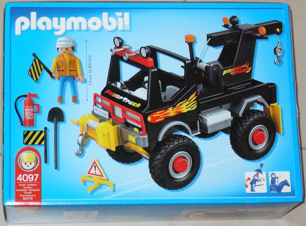 Playmobil 4097 - Power Truck - Back
