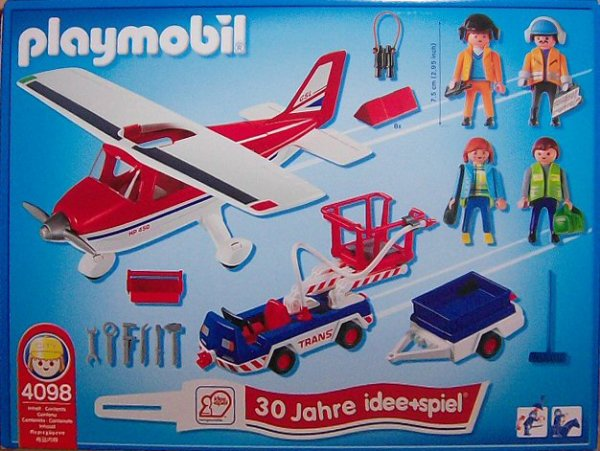 "Playmobil 4098 - Airplane 30 Years ""idee+spiel"" - Back"