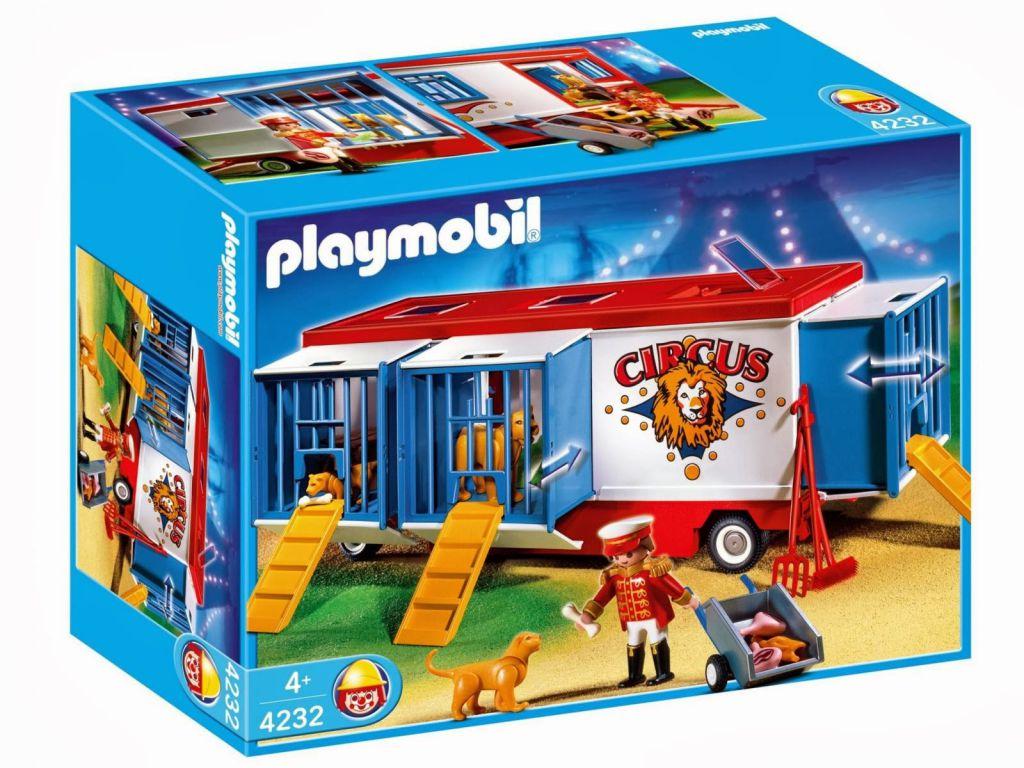 Playmobil 4232 - Mr Loyal & wild animals trailer - Box